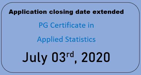 Postgraduate Certificate in Applied Statistics (2020)