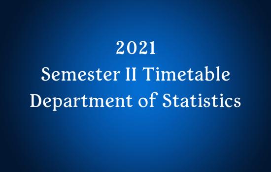 2021-Semster II Timetable