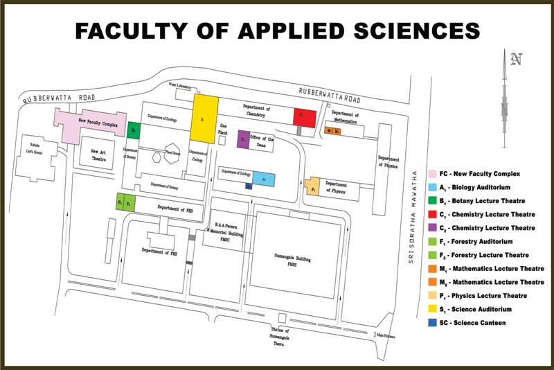 Map of the Faculty of Applied Science