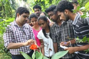 Botany studentd staff