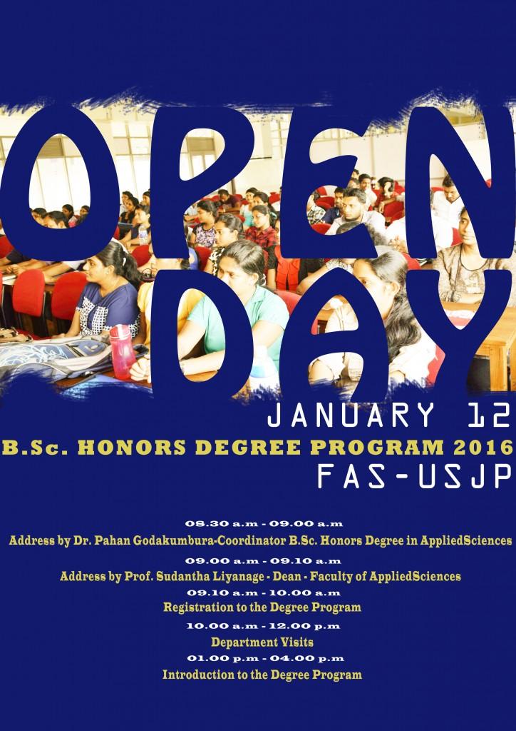 Open Day BSc Hons degree program