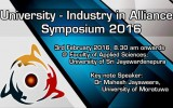 University – Industry in Alliance Symposium 2016