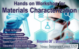 Hands on Workshop for Materials Characterization