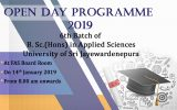 Open Day Programme 6th Batch of B.Sc.(Hons) in Applied Sciences