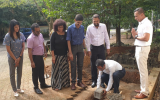 Laying of Foundation Stone for a New Building for Timber Process Center & Sustainability Center