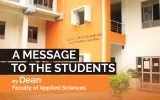 A Message to the Students by  Dean, Faculty of Applied Sciences
