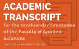 Academic Transcript for the Graduands/Graduates of the Faculty of Applied Sciences