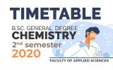 TIME TABLE – B.Sc. GENERAL DEGREE CHEMISTRY – SECOND SEMESTER 2020