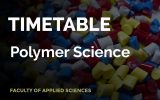 TIMETABLE 2020 – POLYMER SCIENCE – SECOND SEMESTER