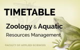 TIMETABLE 2020 – ZOOLOGY AND AQUATIC RESOURCE MANAGEMENT – 2ND SEMESTER