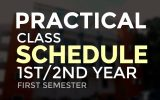 Practical Class Schedule (From 24/08/2020 to 05/09/2020) First / Second Year First Semester