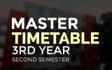 Master Time Table (From 24/08/2020 to 05/09/2020) Third Year Second Semester