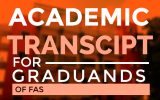 ACADEMIC TRANSCRIPT FOR THE GRADUANDS OF FACULTY OF APPLIED SCIENCES